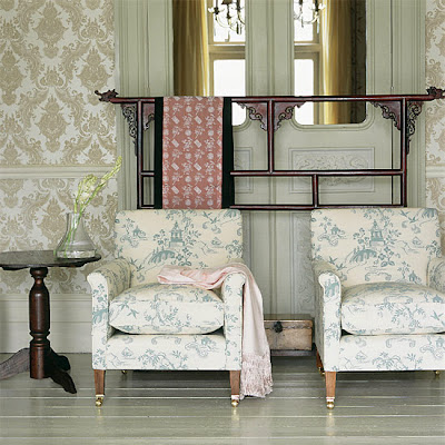 Pareti colorate   shabby chic interiors