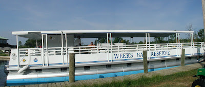 Weeks Bay Reserve's new pontoon boat · AKA your tax dollars at work