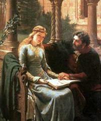 Eloísa y Abelardo por Edmund leighton (1882)