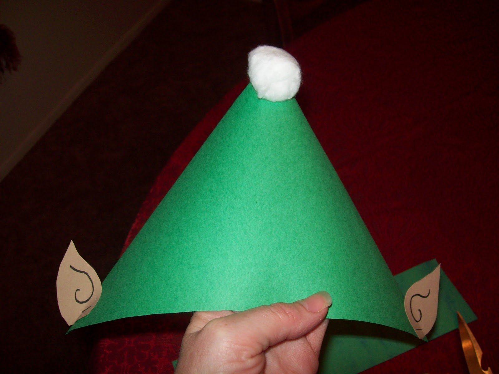 Uncategorized How To Make A Paper Santa Hat easy fast and cheap holiday craft the elf hat fun learning life craft