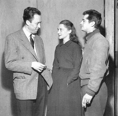 Albert Camus, María Casares y Serge Reggiani
