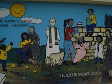 Mural in front of school at Don Juan