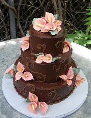 sweet chocholate wedding cakes