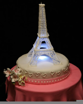 paris wedding cake photo