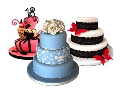 variation brithday wedding cakes