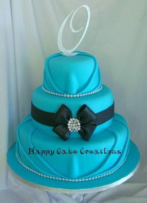 aqua wedding cake picture