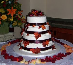 fall wedding cakes autumn