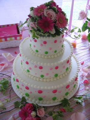 polka wedding cakes dots