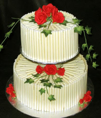 chocolate wedding cake pict