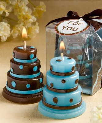 blue wedding cake souvenir ideas