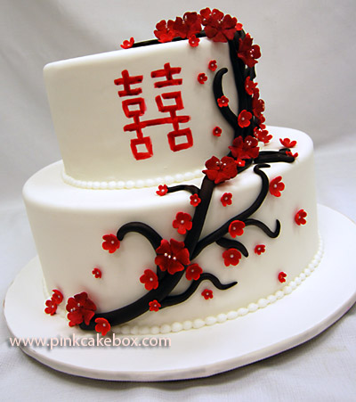 Traditional Wedding Cakes Write Chinese On Top chinese wedding cakes