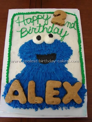 Cookie Monster Birthday Cakes Food and Drink