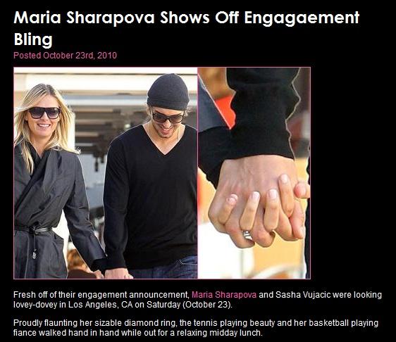maria sharapova engaged. maria sharapova engaged.