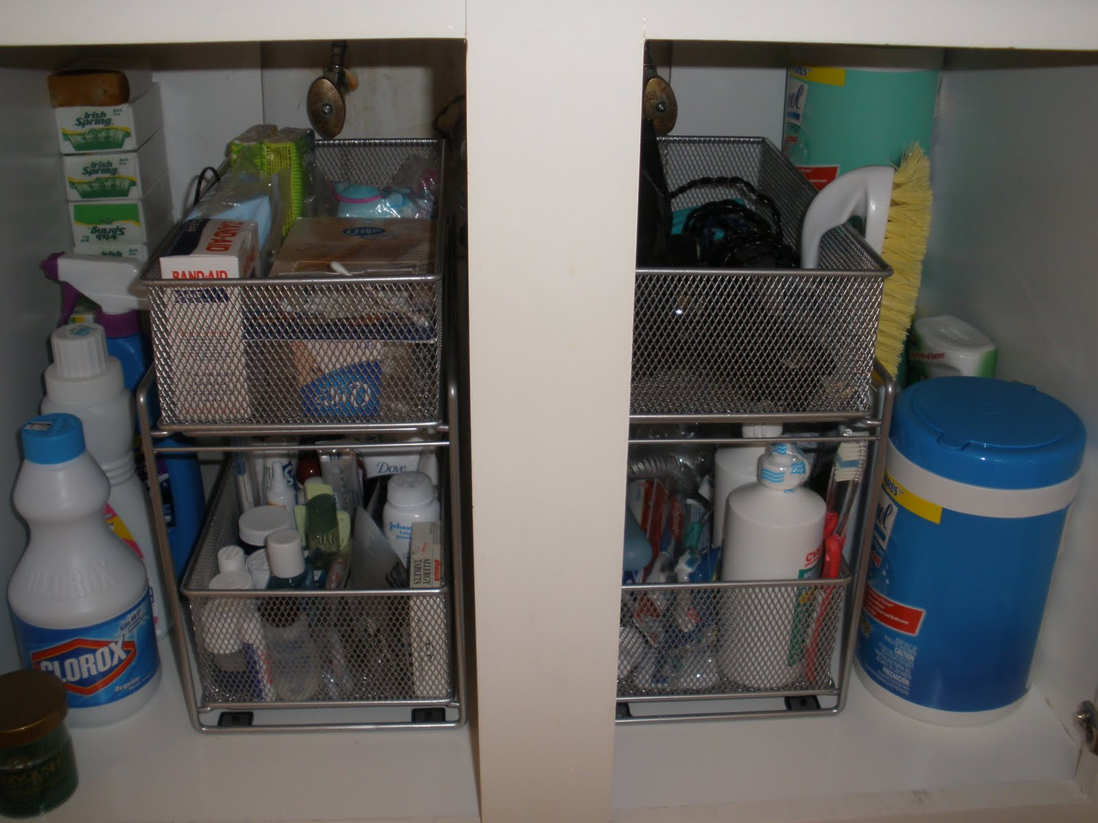 Organizing Under Bathroom Sink