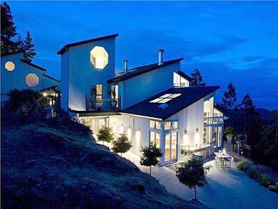 luxuriöse Villa terrasse ausblick ozean