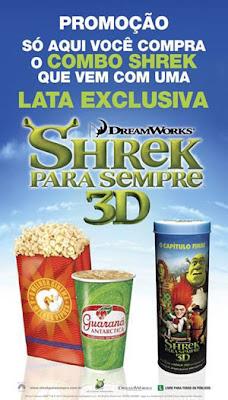 Latas com personagens de Shrek na compra de Combo