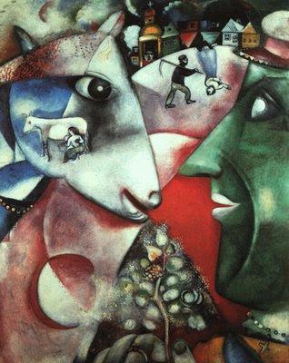 Eu e a aldeia -Marc Chagall