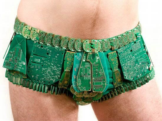 Creative costumes with circuit board parts