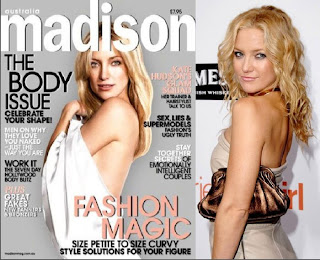 What Happens to Celebrities, when Photoshopped for Magazines