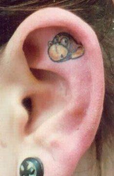 tattoos behind ear