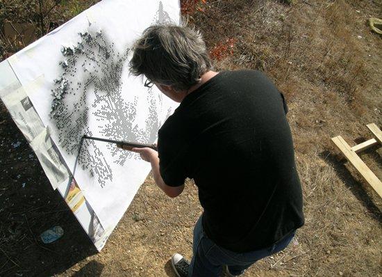 Arte com tiros