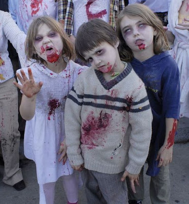 Children in zombie makeup - 14 Pics | Curious, Funny Photos / Pictures