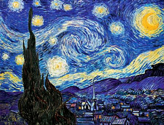 starry night by vinccent van gogh