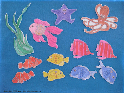 Rainbow Fish on Glitterful Felt Stories  New  The Rainbow Fish Flannel Board Story