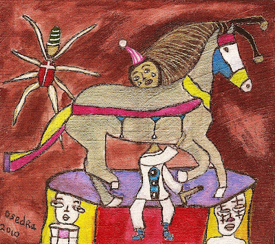 illustration, storybook, libation, story, surrealism, expressionism, linen canvas, spider