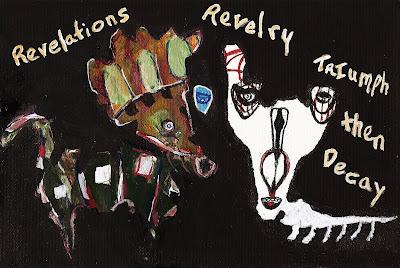 Illustration, Halloween, art, decay, Revelations, Revelry, Triumph