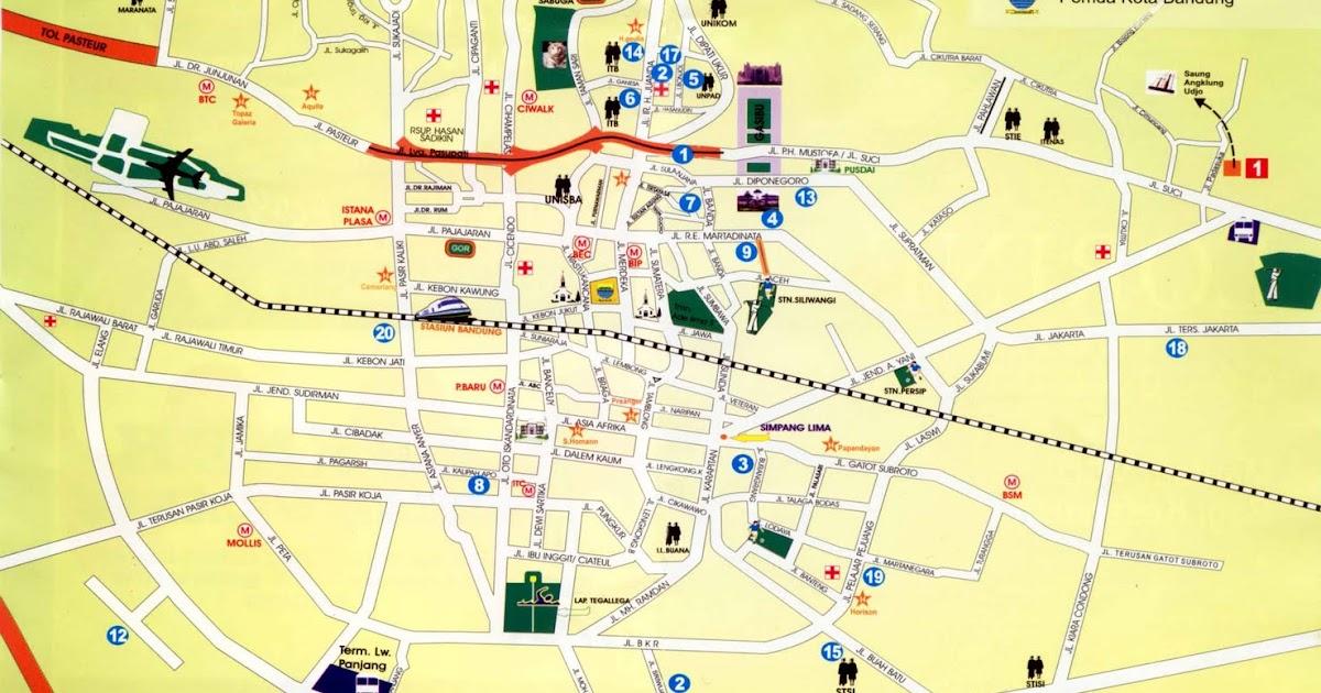Bandung City Highlights Bandung City Map