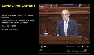 20090701 - Joan Solà al Parlament