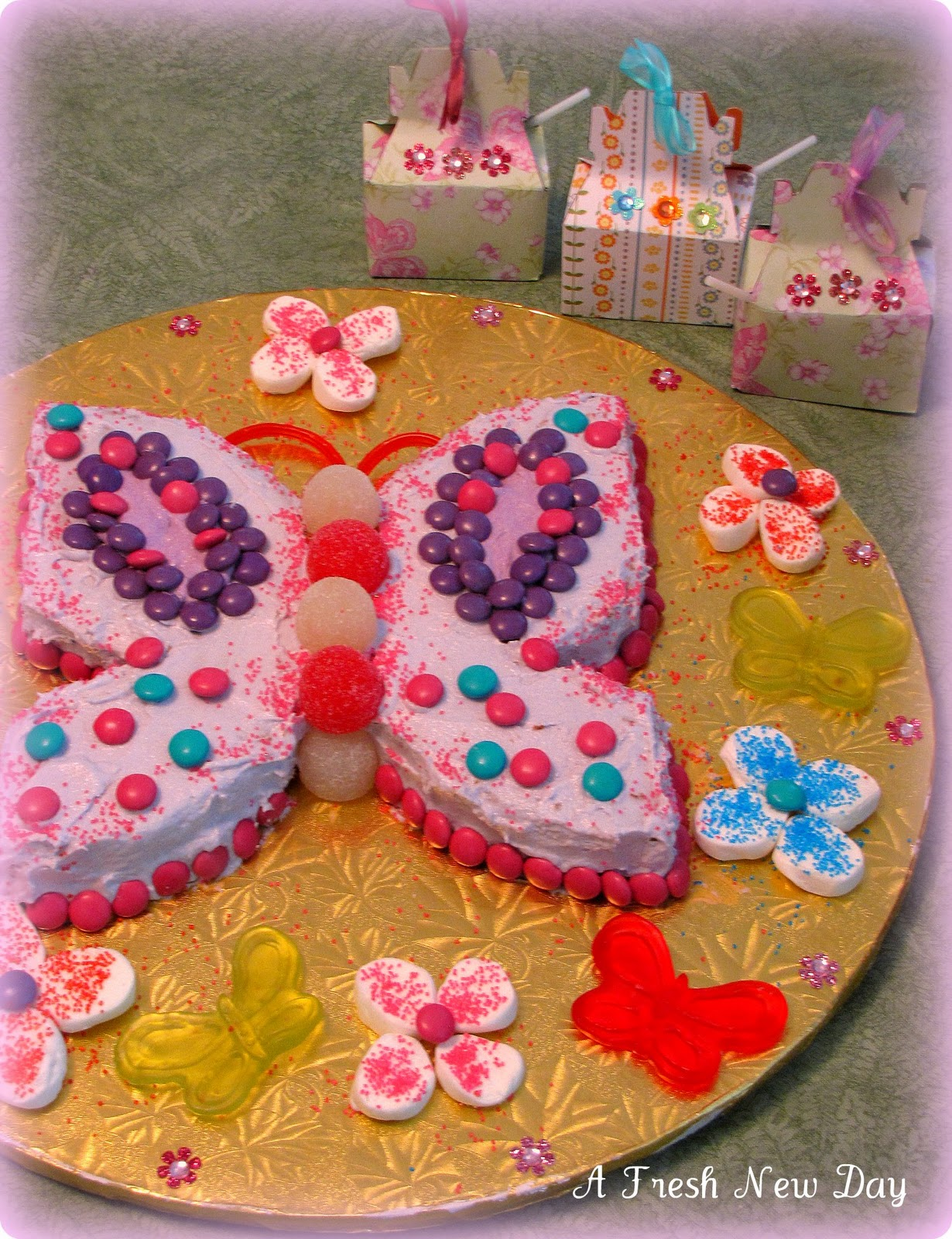 A Fresh New Day: A Butterfly Birthday Cake