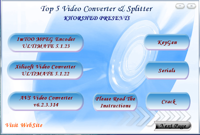 3) AVS Video Converter v6.2.3.314 4) Portable Any Video Converter Professio