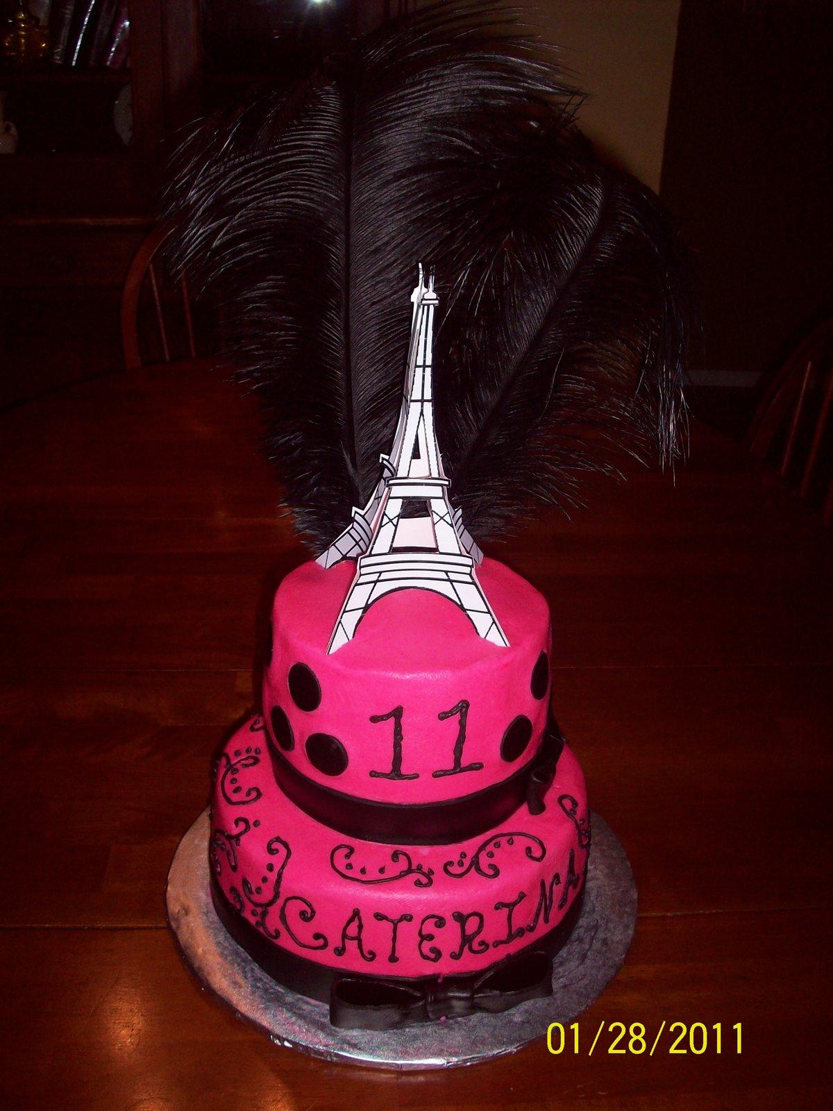 French Themed Birthday Cake French Theme Birthday Cake