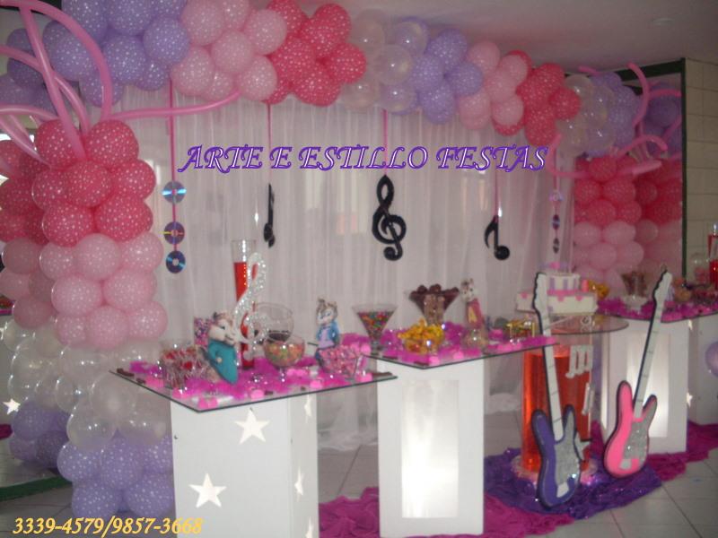Arte e Estillo Festas DECORAÇÃO COM NOTAS MÚSICAIS