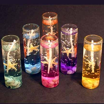 Abstract art pictures collection gel candles - Velas de gel ...