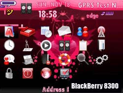 Blackberry 8300 curve phone themes