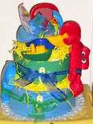 Beach Fun Diaper Cake Diaper Cake filled with los of fun (beach fun diaper cake )