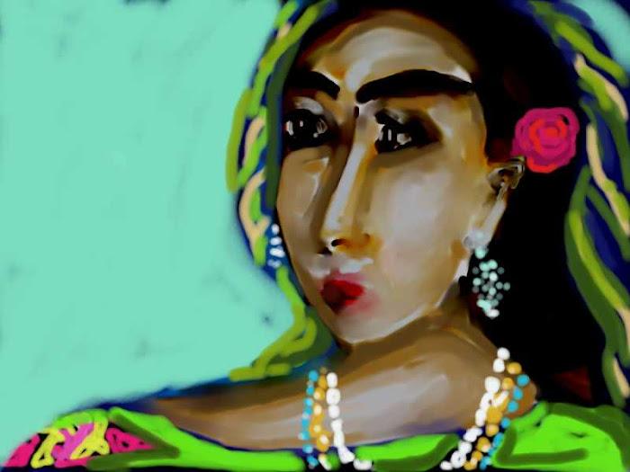 A  tzigane - woman ' s   Semi -Cubism  portrait