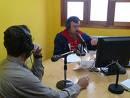 Aqui nuestro amigo carlos chacon en su programa de radio