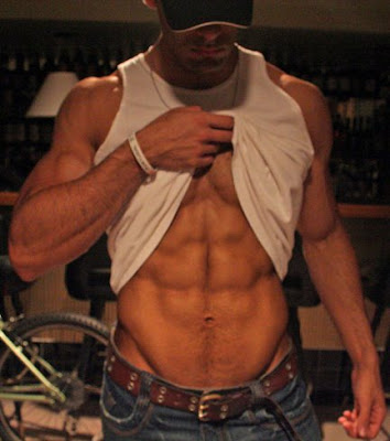 chiseled, hotties with six-pack abs,