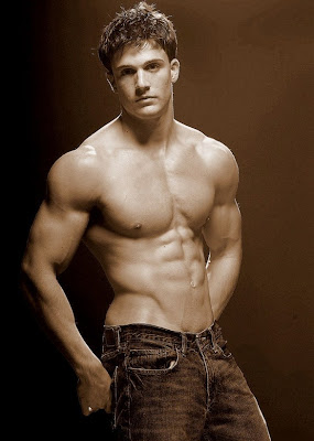 hunks in jeans, muscle jock of the day