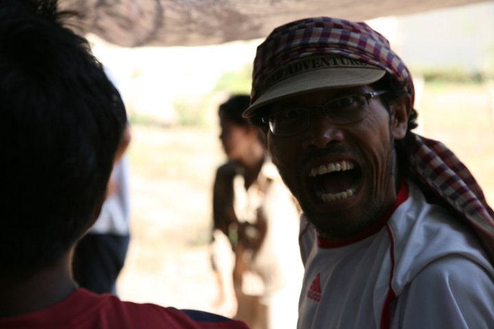 indonesian people talking. there were people from all