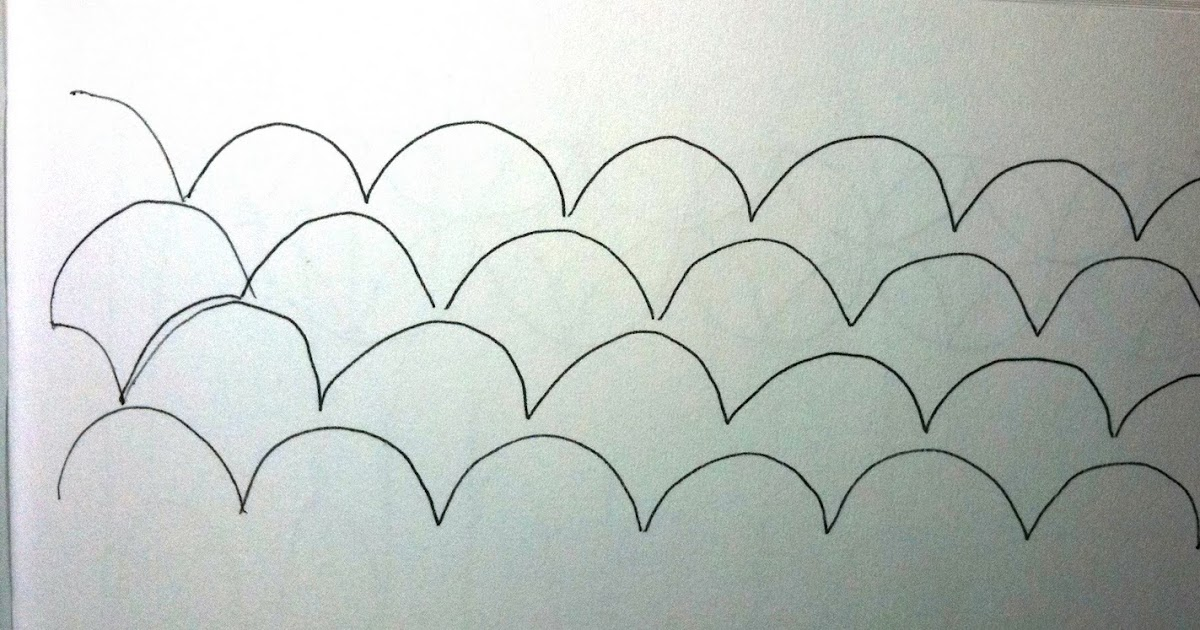 A Few Scraps: Free Motion Quilting Designs: Scallops