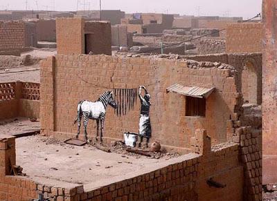Cebra de Banksy