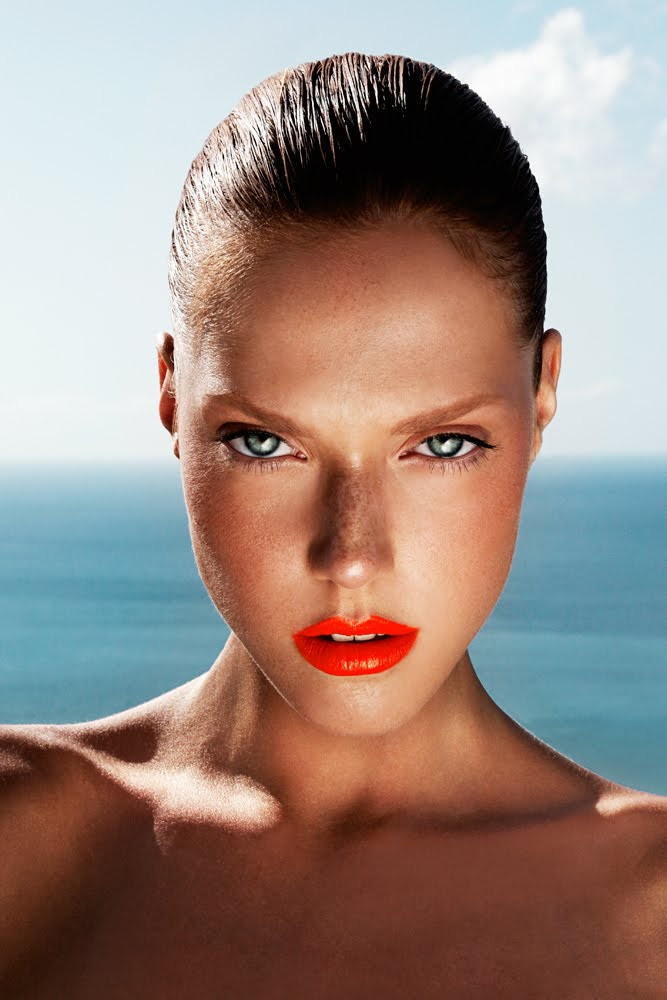 Colorful Lips Makeup Nails Tan Skin Freckles Glowing Skin ...