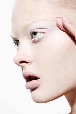 beauty photographer nyc, white eye makeup, pale skin