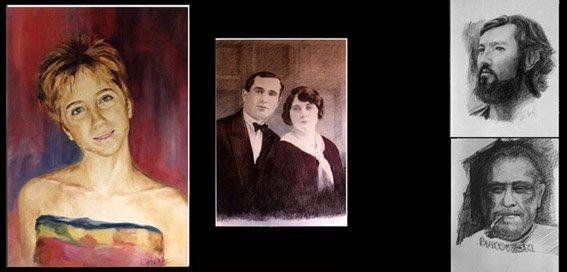 retratos / restauraciones