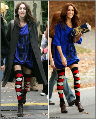 Sex & The City's fashion lead. Knee socks and over the ...